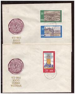 DDR-FDC-1000-Annees-Weimar-Minr-2086-2088-Tst-Bohlitz-ehrenberg-10-10-1975