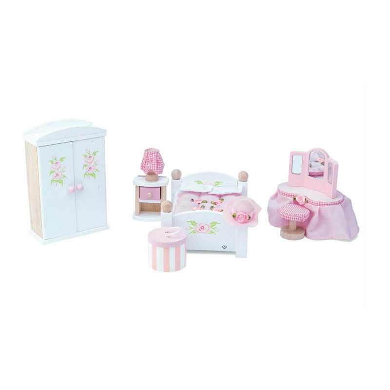 Le Toy Van ME057 Bedroom Set Bedroom Weiss 1 12 for Doll House Wooden NEW