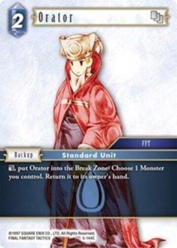 Male Unit - 5-144C C--NM-Mint 3x Final Fantasy TCG: Opus V 5 Orator