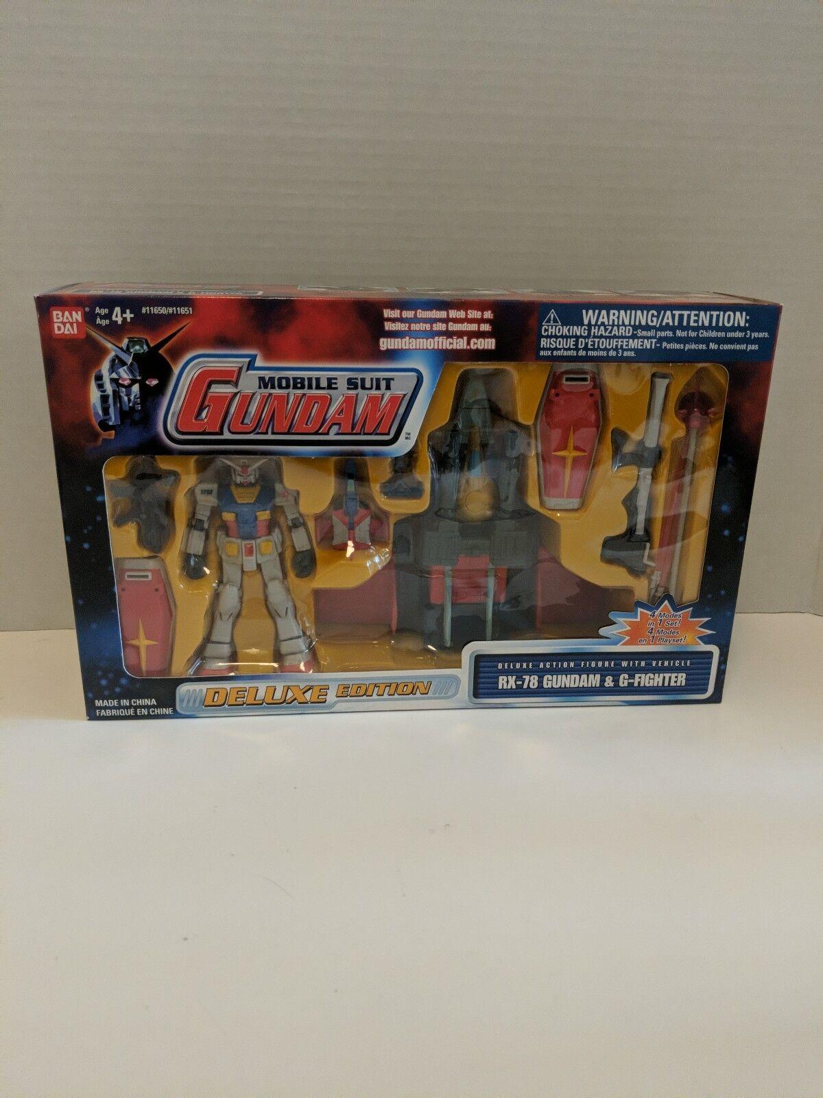 Mobile Suit Gundam Bandai RX-78 Gundam & G-fighter 2001 NIB Deluxe Edition