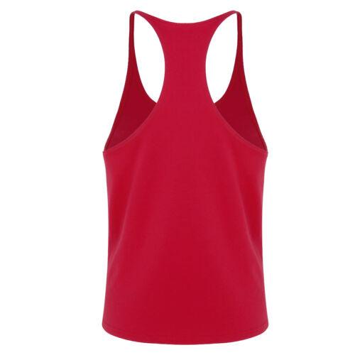Clearance Men Cotton Gym Sport Running Muscle Vest Tank Tops T-shirt Crop Vest