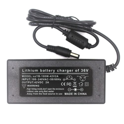 Battery Charger Power Supply 42V 2A for 36V Pedelec E-bike Scooter with Round Connectors...