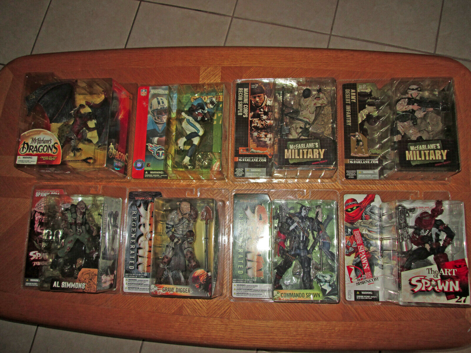 McFarlane Action Figures Figures Figures Lot (Spawn, Military, NFL, Dragons) c61925