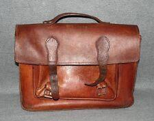 Leder Schultasche Lehrertasche Vintage Braun Tasche 70er Jahre Aktentasche v