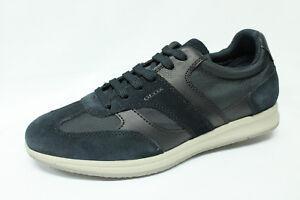 Scarpe Sneakers Geox U Avery A camoscio e tessuto blu