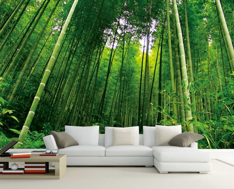 3D Großer bambus in den Wald Fototapeten Wandbild Fototapete BildTapete Familie
