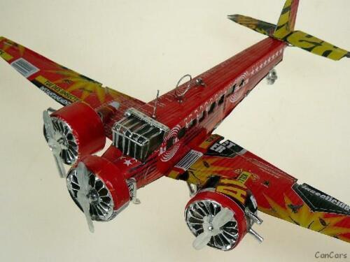Junkers JU 52 Tante JU  Länge 22 cm Blechflieger Blechmodell Blechspielzeug