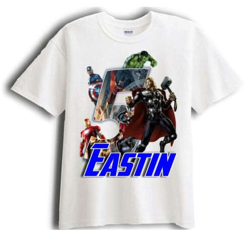 Birthday T-Shirt Party Favor Avengers Thor Personalized