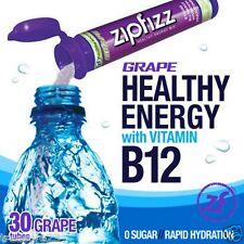 Zipfizz Healthy Energy Drink Mix Grape 30 Tubes NO SALES TAX