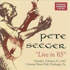 Live in 65 by Pete Seeger (Folk) (CD, Nov-2009, 2 Discs, Appleseed Recordings)