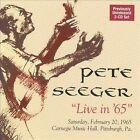 Live in 65 by Pete Seeger (Folk) (CD, Nov-2009, 2 Discs, Appleseed Recordings)