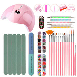 Acrylic-Nail-Kit-Powder-Glitter-Nail-Art-Manicure-Rhinestone-Tool-Tips-Set-W0E9