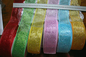 Mesh-Sparkling-Brights-5907-Firm-Edge-3-Mtr-Lengths-6cm-6-colour-Choice-LL10