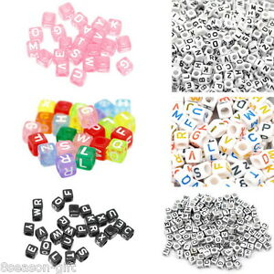 500PCS-Mixed-Cube-Acrylic-Letter-Alphabet-Beads-Colorful-New