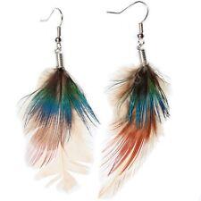 Feder Ohrringe Earring Boho Vintage Ohrhänger Indianer Look Hippie