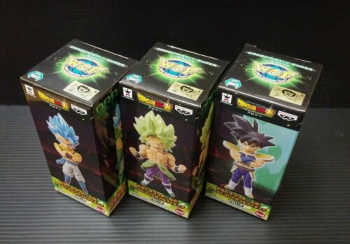Movie Dragon Ball World Collectable Figure WCF Vol.3 Gogeta BROLY BARDUCK 3 Sets