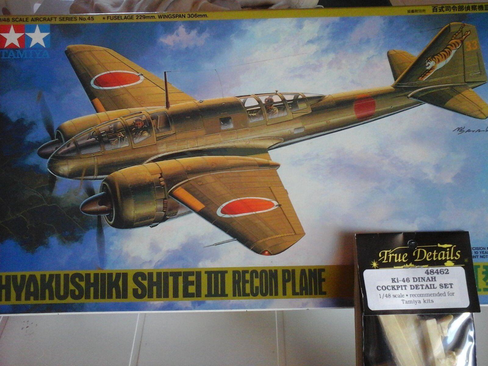 HYAKUSHIKY SHITEI III RECON PLANE 1 48 SCALE TAMIYA MODEL+RESIN COCKPIT DETAIL