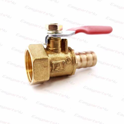 Brass ball valve fitting female thread x hose nozzle nipple connector