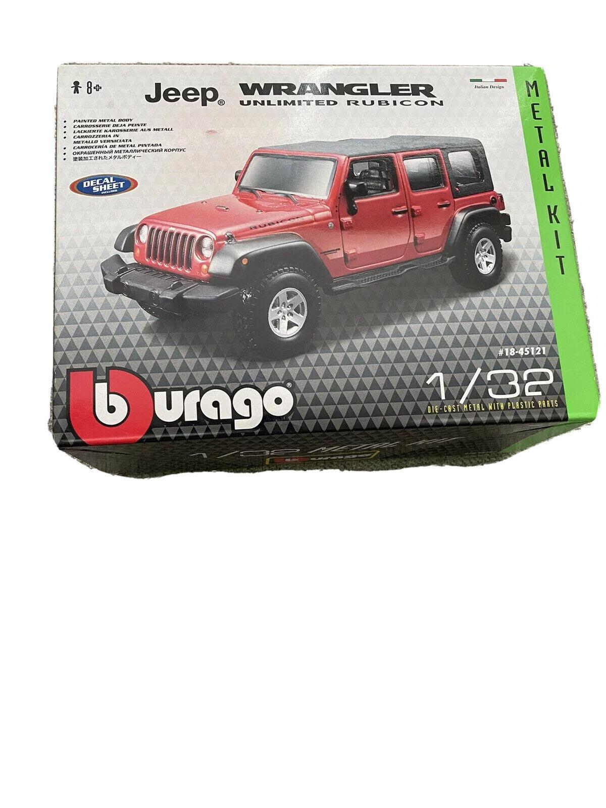 1:32 Scale Bburago B18-45121 Jeep Wrangler Unlimited Rubicon Model Kit