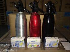Soda Siphon dispenser Seltzer co2 chargers 1 liter REFURBISHED bottle
