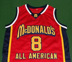 b40ee5ae0ac KOBE BRYANT MCDONALD ALL AMERICAN JERSEY MCDONALD'S RED NEW SEWN ANY ...