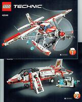 Lego® Technic Bauanleitung Für 42040 Löschflugzeug Jet Neu Only Instruction
