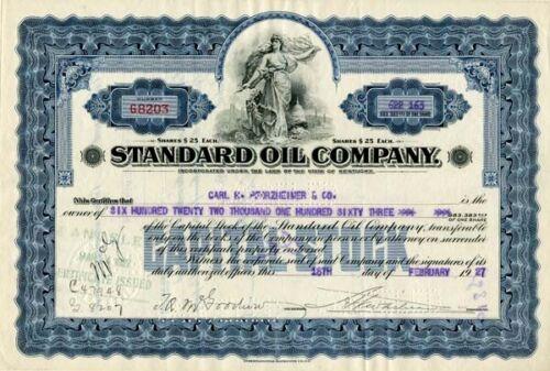 Stock Certificate Standard Oil Company