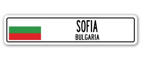 BULGARIA Street Sign Bulgarian flag city country road wall gift SOFIA