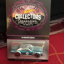 2015 Hot Wheels 29th Convention 68 Mercury Cougar 1 of 1500 produced Dinner car