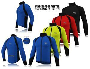 Men-Cycling-Winter-Windstopper-Jacket-Thermal-Fleece-Long-Sleeve-Windproof-Coat