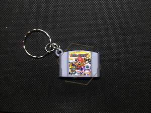 Mario-Party-3-3D-CARTRIDGE-KEYCHAIN-Nintendo-64-N64-collectible