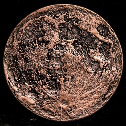 Blood Moon Gift Or Reminder Coin Supermoon 26 Gram .999 Copper Antiqued Worry