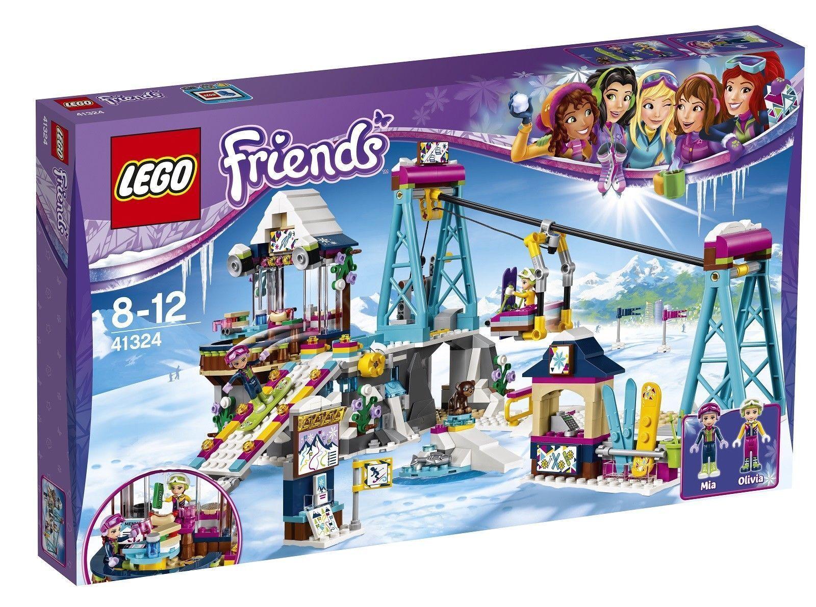 LEGO Friends Snow Resort  ski lift 2017 (41324) BRAND nouveau UNOPENED Box Cadeau  site officiel