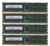 16GB 4X 4GB PC3-10600R  DDR3-1333Mhz 2Rx4 ECC REG Server Memory CL9 #5768