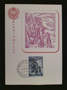 SAN-MARINO-MK-1962-MONTE-TITANO-MOUNTAIN-BERG-MAXIMUMKARTE-MAXIMUM-CARD-MC-c7784