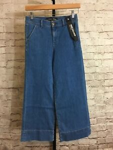 Express-Women-039-s-High-Rise-Medium-Wash-Wide-Leg-Crop-Jeans-Tag-Size-2R-NWT