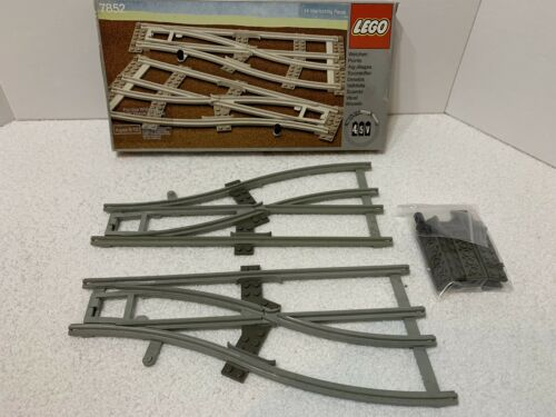 Lego Train System Left and Right Points Switches 7852 Complete w// Box