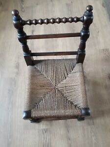 Vintage/antique Child's Turned Wood Bobbing Arts & Crafts Chair Lustrous Surface Chairs