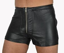 AW533 BACK FREE GAY LEATHER SHORTS LEATHER PANTS,LEATHER TROUSERS,ledershorts
