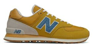 NEW-BALANCE-574-Scarpe-Uomo-Sneakers-Suede-Textile-VARSITY-GOLD-BLUE-ML574SCB