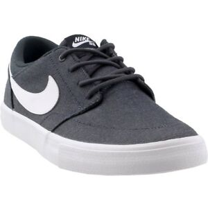 e0c468c9add3c3 Nike SB Solar Portmore II Canvas Premium Skate Shoes - Grey - Mens ...