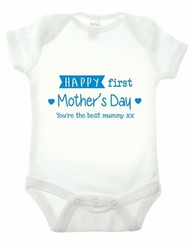 Happy First Mothers Day Babygrow -  Newborn Gift Baby BodySuit Present Cute