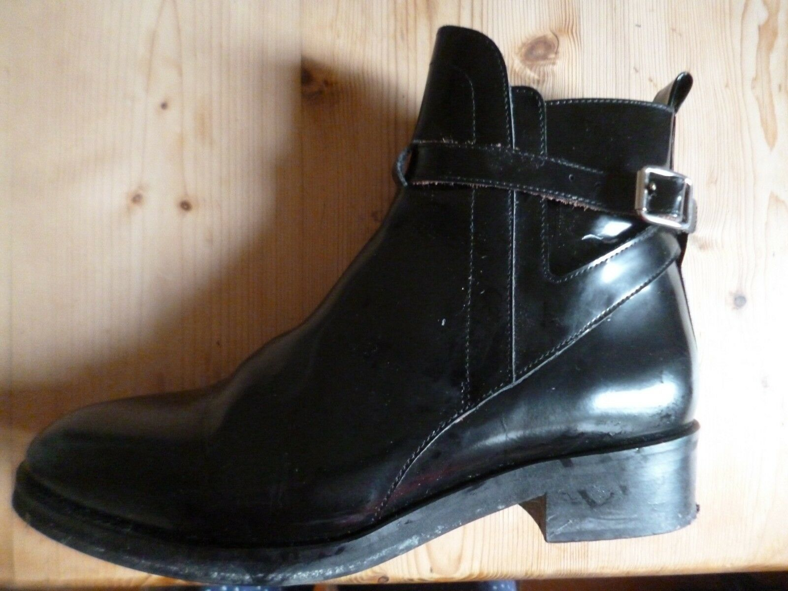 WHISTLES FLAT BLACK BLACK FLAT STRAPPY ANKLE Stiefel, 41, 8. 5e0319