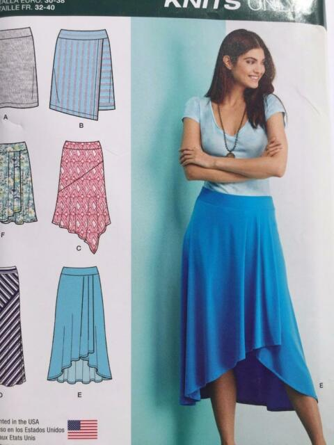 Simplicity 1163 Size R5 1416182022 Misses Knit Skirts With Length