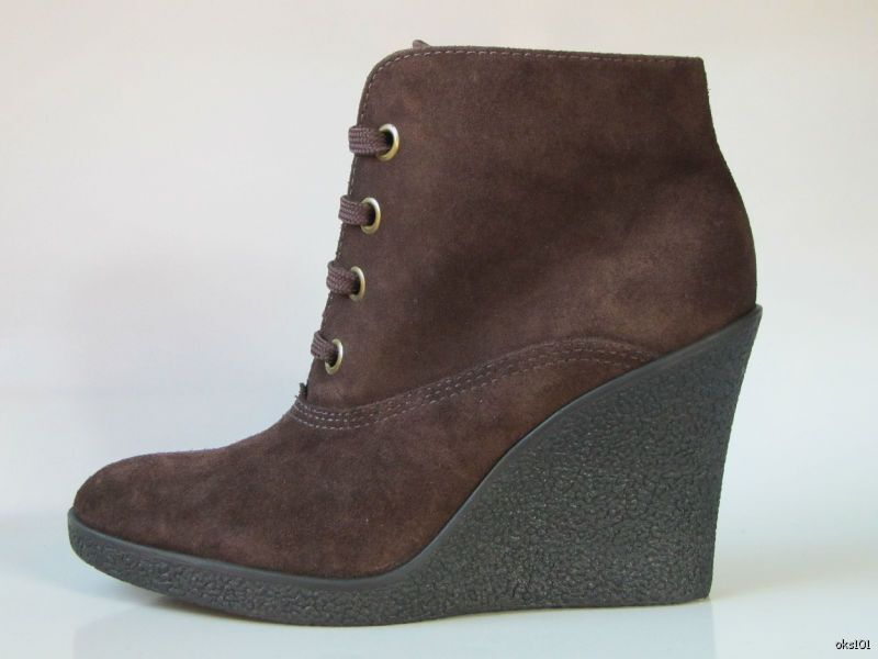 NEU FRANCO SARTO Braun suede wedge ANKLE BOOTS Schuhes 10