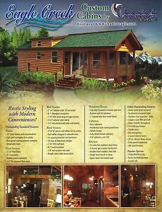 Image Is Loading 2018 EAGLE CREEK RUSTIC CABIN PARK MODEL MOBILE