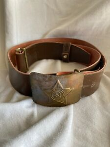 Military Army Naval Belt Anchor Officer Soviet Uniform USSR Russian Army Sailor Vintage