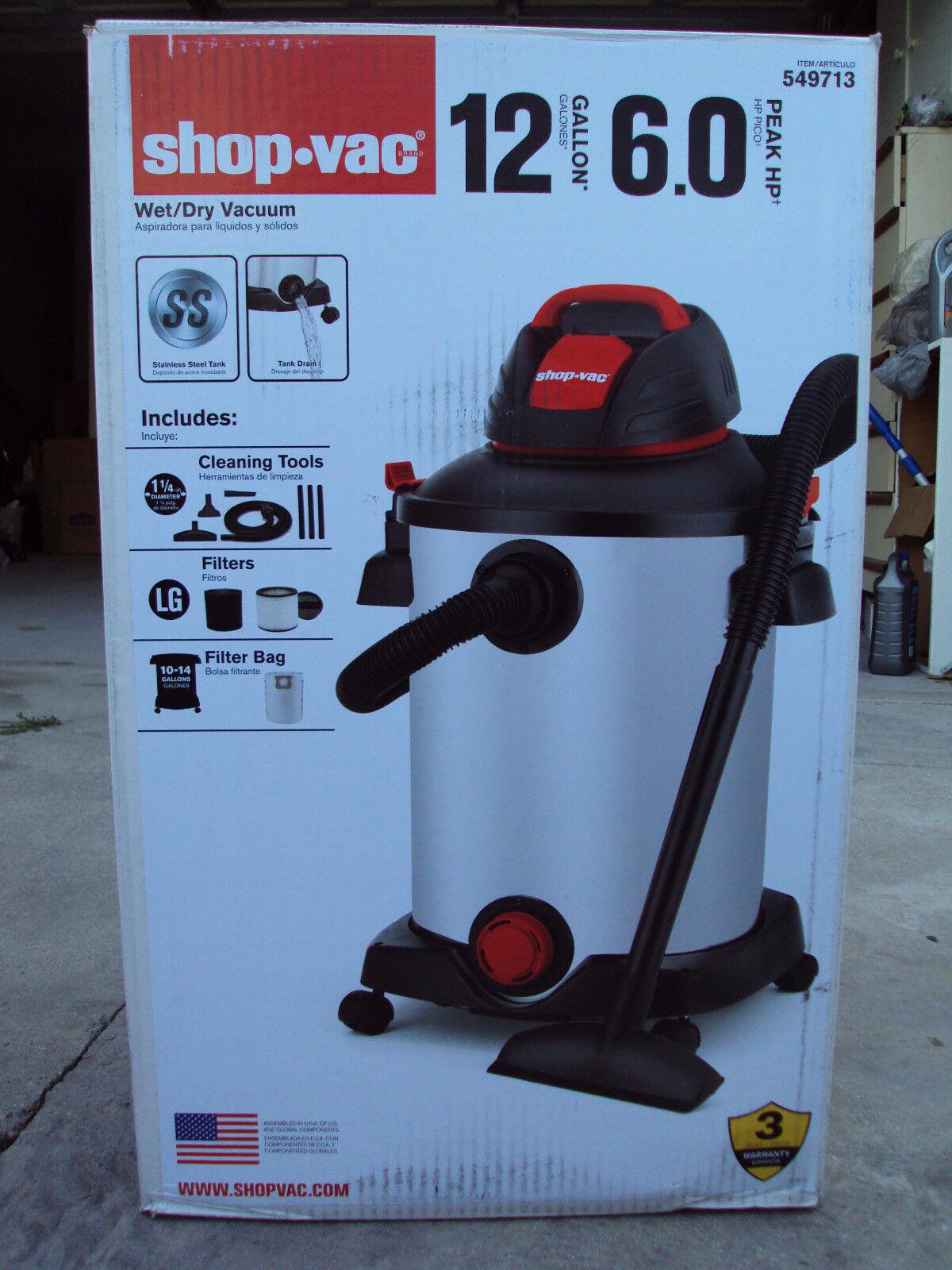 Shop Vac 12 gallon 5.75 peak horse power model
