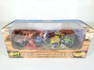 Hot-Wheels-Off-Road-Racing-4-Car-Set-1997-NEW-NIB-1-64-Scale-Diecast
