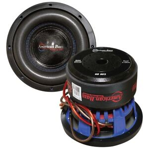 """X1 American Bass HD822 8"""" Sub Woofer 400W RMS / 800W Max Dual 2 Ohm Voice Coil"""